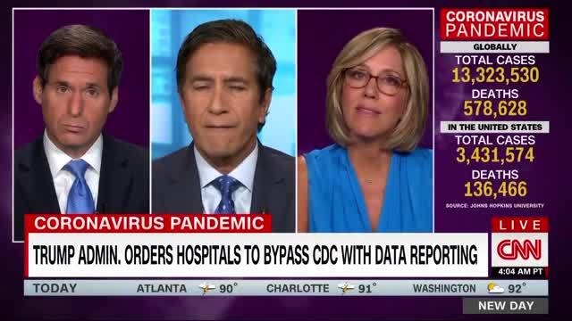Dr. Gupta on Coronavirus Data Rerouted To the Trump Admin: 'I Think It's Going To Lead To More Opaqueness'