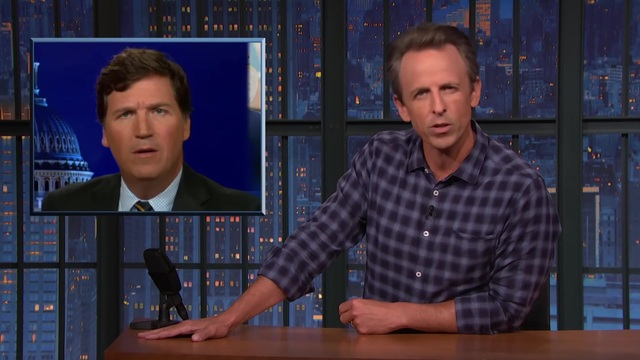 Meyers Mocks Tucker: Aside from Vax Mandates, 'They' Can Force You to Wear Shoes in Olive Garden